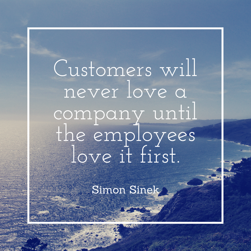 Customers will never love a company