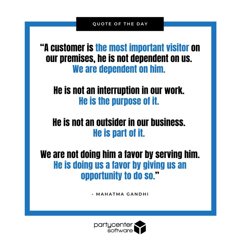 Ghandi Quote - Customer Experience - Blog
