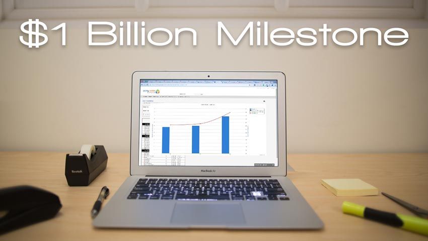 $1 Billion Software Milestone