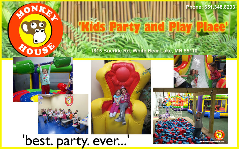 Monkey House is the kids party and play place