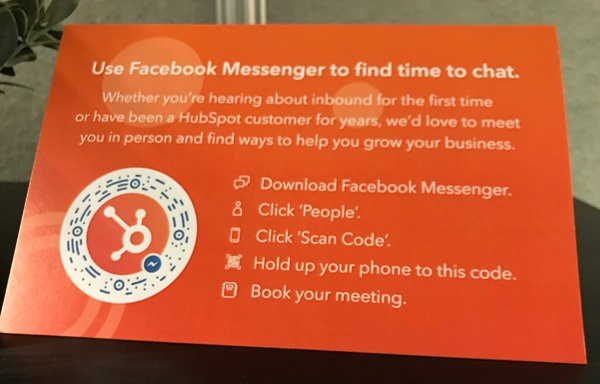 Facebook Messenger Signage example