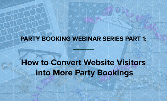 Convert website visitors into party bookings