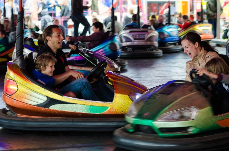 Event Safety is Important! - Family Using Bumper Cars