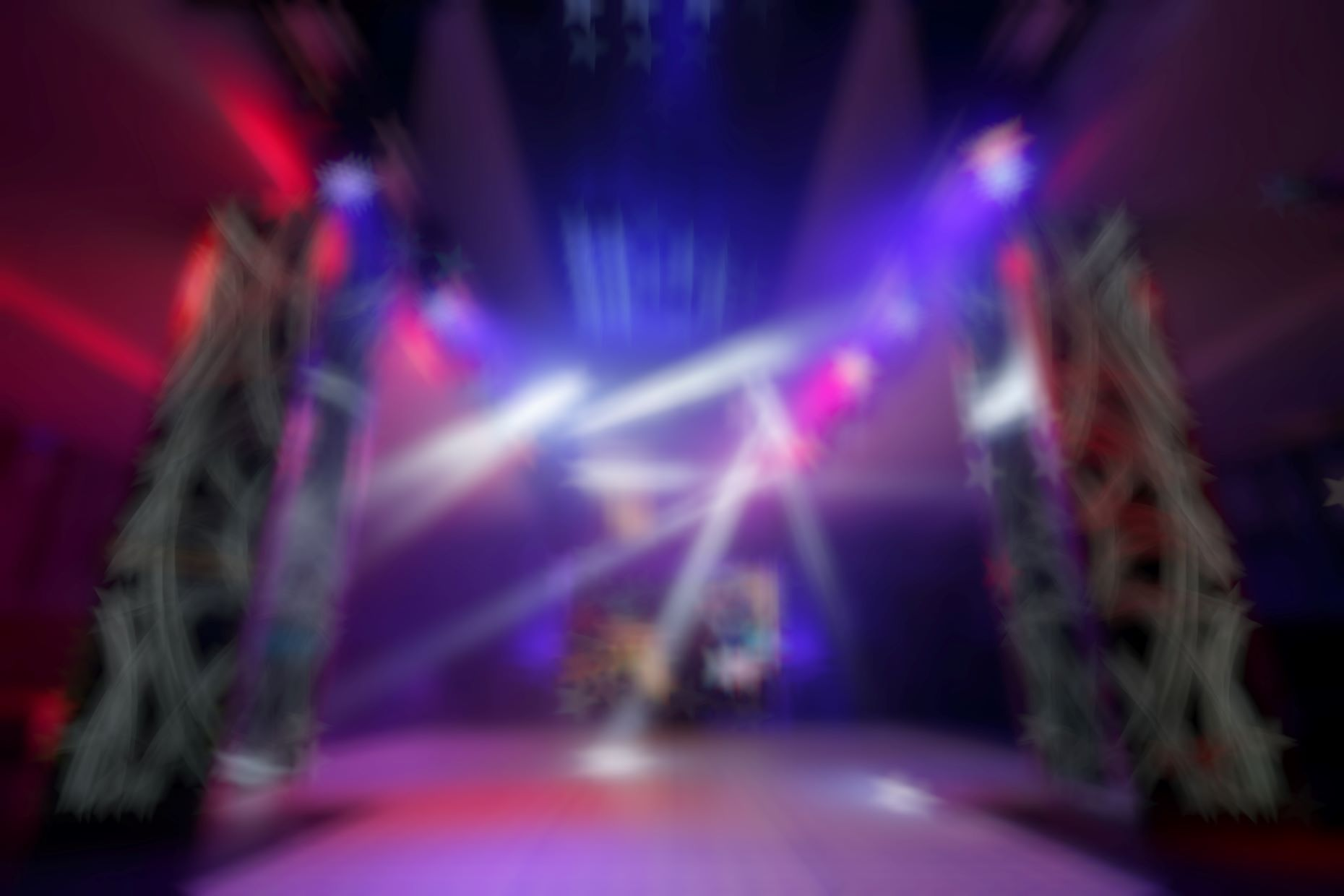 Blurry image of Laser TAG room
