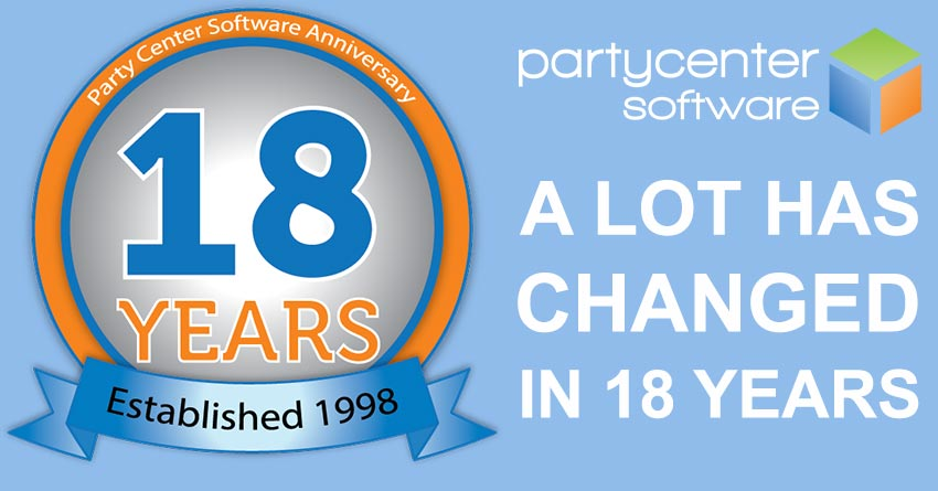 Party Center Software Celebrates 18th Anniversary