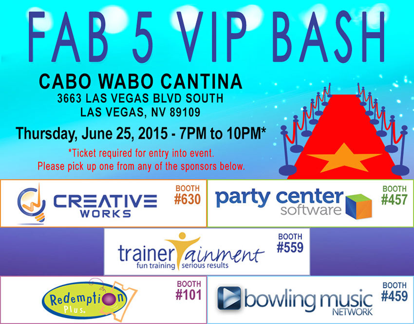 Bowl Expo 2015 - FAB 5 VIP BASH