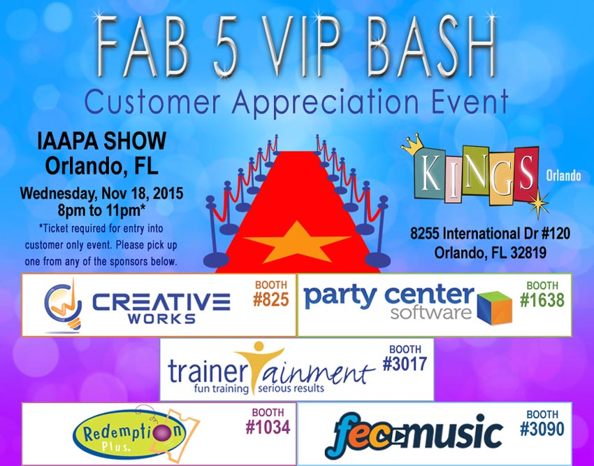 IAAPA 2015 - Come Party With Us