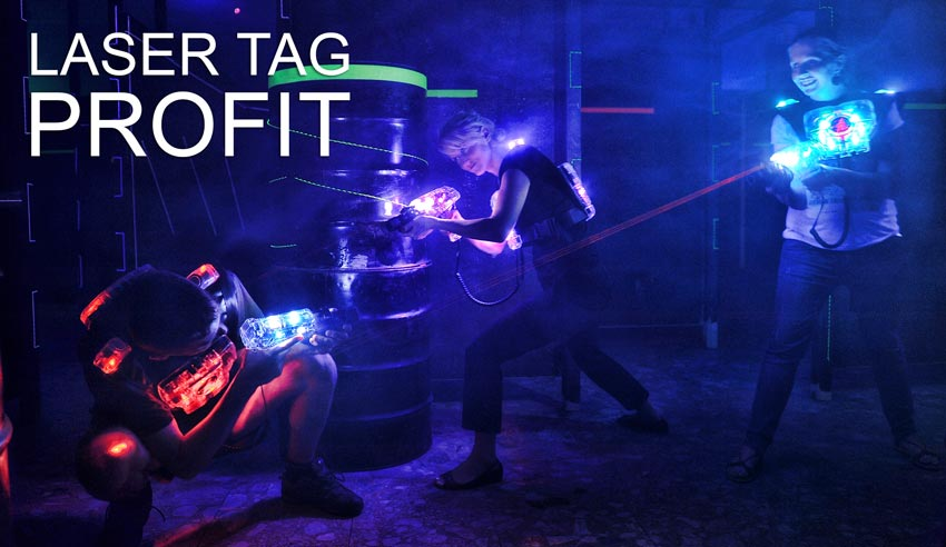 Glow in the dark laser tag arena