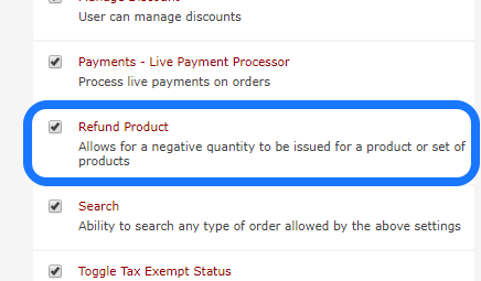 Refund Product Permission