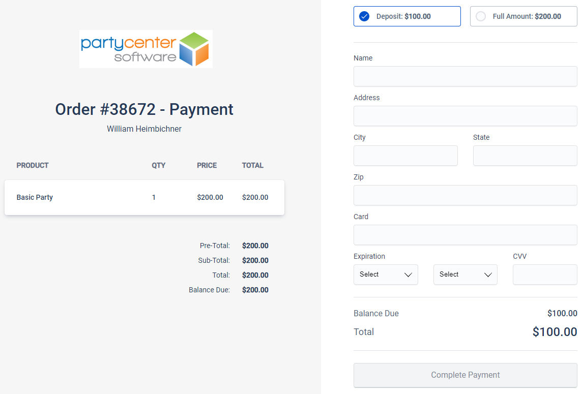 Secure Payment Link Example