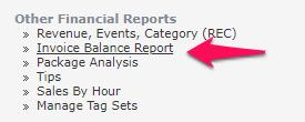 Invoice Balance Report