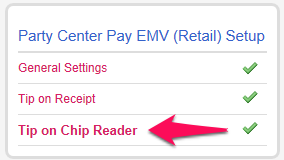 Tip on Chip Reder Settings